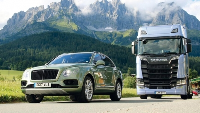 Scania S730 contra Bentley Bentayga