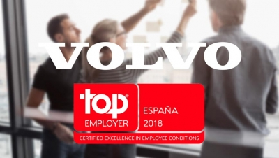 Volvo Group España y Volvo Financial Services certificadas como Top Employers España 2018